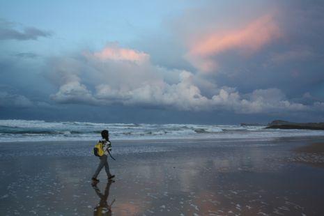 no hay mejor opcion que un paseo al anochecer en nuestras playas