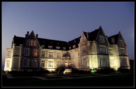 El palacio iluminado