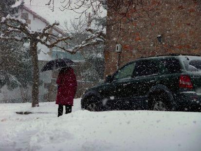 Nieva con ganas