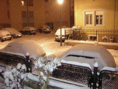 Noche Buena bajo la nieve