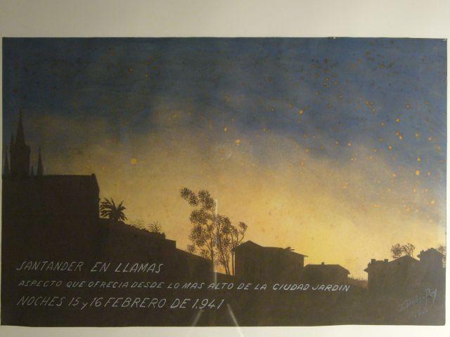 Incendio 1941 desde Ciudad Jardín