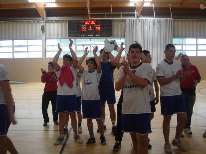 CAMPEONES JUVENILES BALONMANO EL DILUVIO-ADELMA SECTOR CANTABRIA 2011