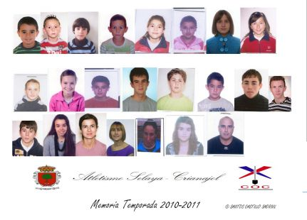PORTADA MEMORIA ATLETISMO SELAYA-CRIANAJOL TEMPORADA 2010-2011