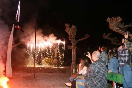 Espect�culo nocturno Fiesta del Orujo