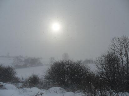 Nevando en Campoó . 040212