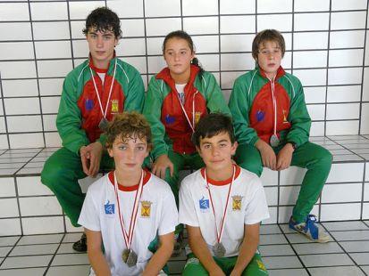 Medallistas alevines EDM Torrelavega