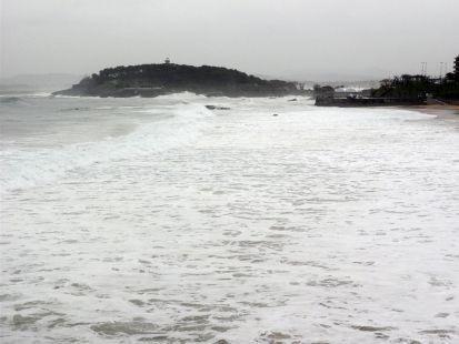 sardinero tapado por la mar