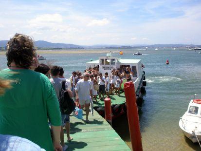 Desembarcando en el Puntal.