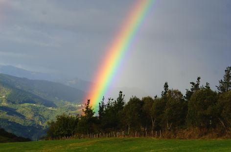 arco iris desde Corona