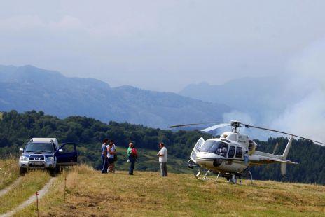helicoptero en Pandos