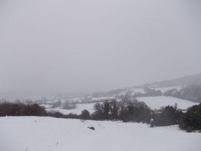 Nieve entorno a la ermita de la Virgen de las Nieves