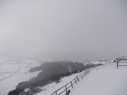 Nieve entorno a la ermita de la Virgen de las Nieves