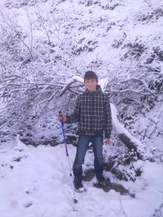 pablo en la nieve