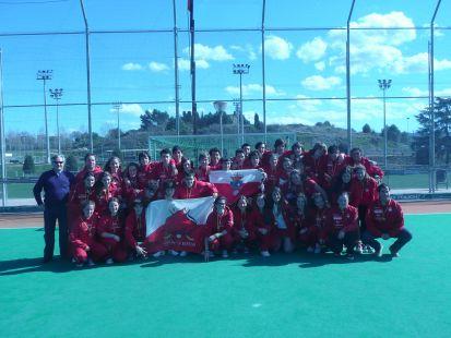 Hockey Sub-16, Cantabria medalla de bronce
