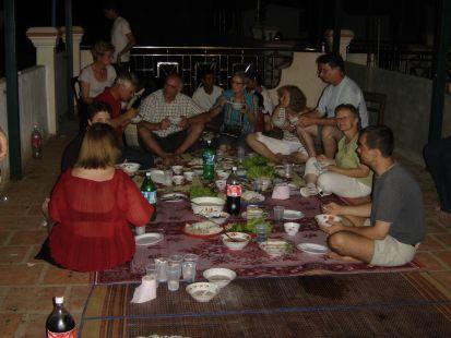 Cambodge, en el comedor.