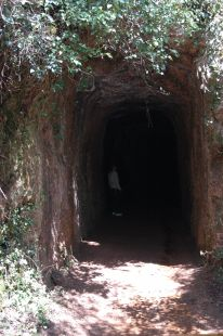 Tunel de la mina de Udias