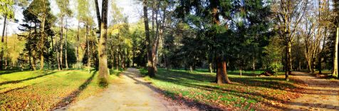 Parque de Alceda en Ontaneda, en otoño