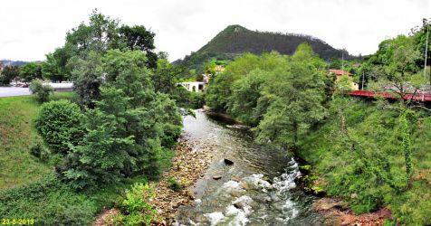 El Pas a  su paso por Puente Viesgo