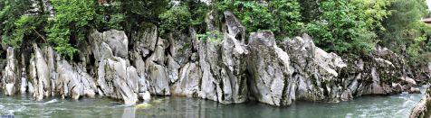 El Rio Pas, caprichos de la erosión