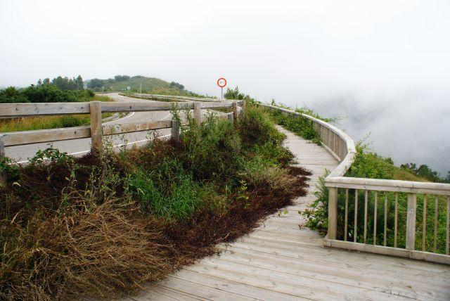 Condiciones lamentables en el Mirador de Rábago en la carretera al Soplao