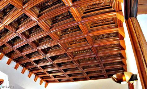 El capricho, artesonado del techo