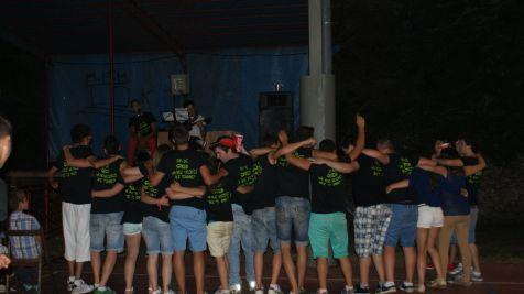 Actuación de las jóvenes promesas en las fiestas del Carmen de Ganzo