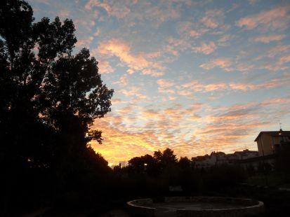Amaneciendo en El Jardín Botánico de Nestares