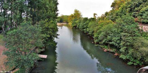 Rio Saja a su paso por Santa Lucia