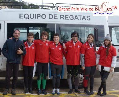 Equipo 420 de la Escuela Municipal de Vela del CEAR de SAntander en el International Grand Prix Vila de Blames 2014