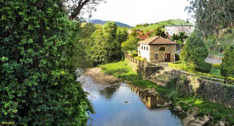 Rio Miera a su paso por Liérganes