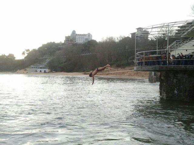 Al agua desde el balneario la Magdalena ,¿donde esta la playa?