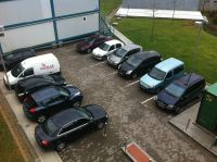 Micro Parking de Valdecilla, reducido al mínimo