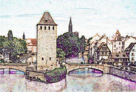 Les ramparts. Estrasburgo