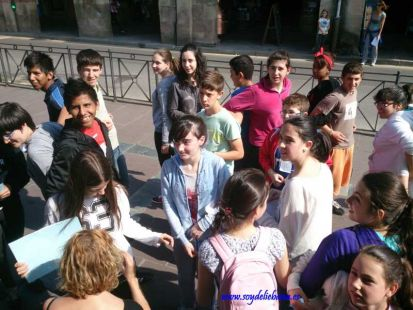 Gymkana escolar en Potes sobre la Unión Europea
