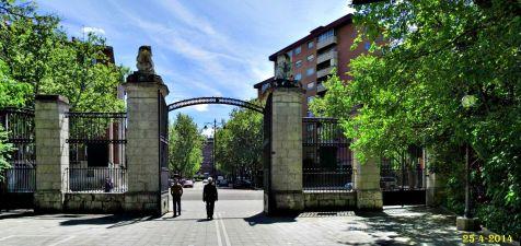 Entrada al Parque Grande. Valladolid