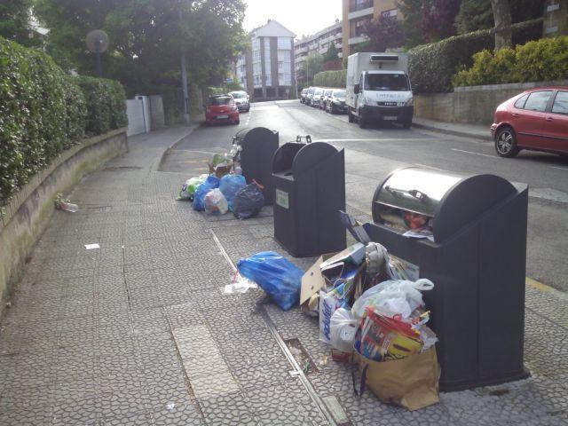 Basura permanente en la calle