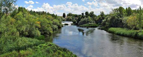 El rio Tormes en Salamanca