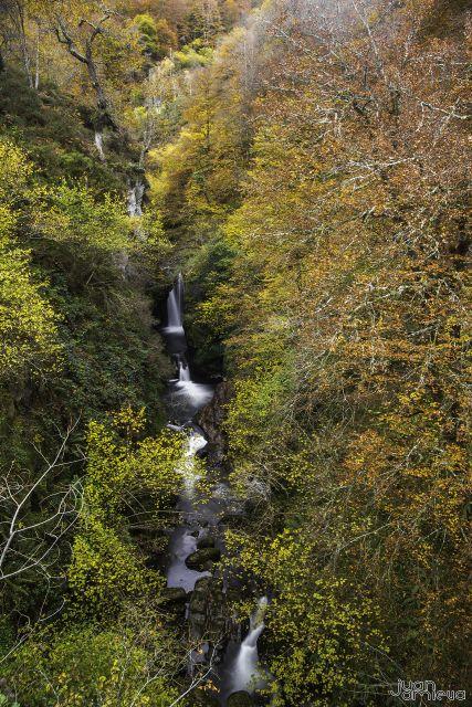 Río Saja a su paso