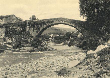 Rio Miera a su paso por Liérganes. Antaño